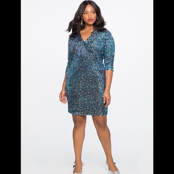 76b78656536 Eloquii Sequin Dress Size 16
